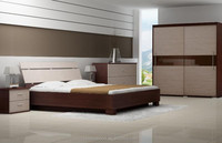 Huaxu contemporary wooden bedroom furniture set
