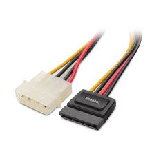 2017 hot new products PSU to motherboard extension cable 4 pin male molex to SATA 15 pin female power cable adapter