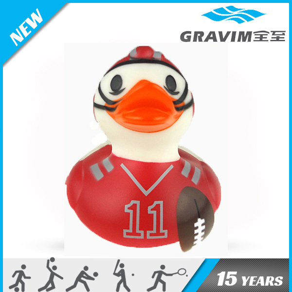 Gravim weighted floating flag rubber duck