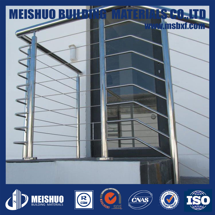 Steel wire type stainless steel handrail for stairs