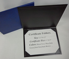 A4 leather paper ( vinyl paper ) certificate holder for school & business diploma cover with deboss