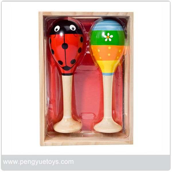 Safe wooden shaker for kids toy musical instrument maracas wholesale