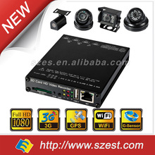 4CH 1080P Vehicle Blackbox DVR 3G G-Sensor GPS for bus, taxi, police car, truck