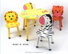Cartoon Design Wooden Furniture Children/Kids Study/Play Table and Chair Set For Room Activity