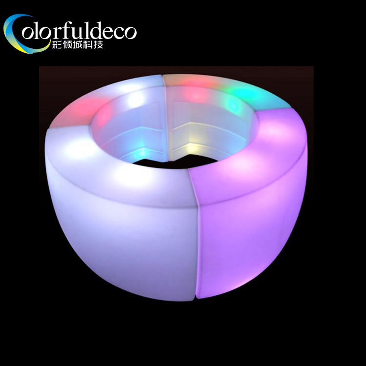 remote controlled decorative party furniture led light bar