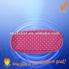 sports and leisure fashionable 600d polyester designer pink cosmetic bag