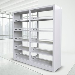 School Library Furniture Steel Frame Double Side Library Bookshelf