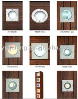 LED Square stainless steel wall recessed lighting