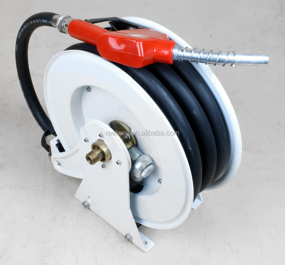 10m auto retractable diesel fuel hose reel with nozzle buy retractable hose reelauto retractable hose hose reel with nozzle product on - Retractable Hose Reel