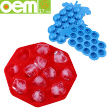 fashion food grade custom large fancy silicone ice cube tray