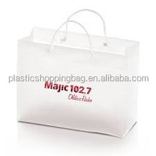 Plastic PVC Loop OEM Custom Printed Plastic Shopping Bag