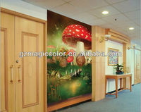 mushroom canvas oil painting wall mural