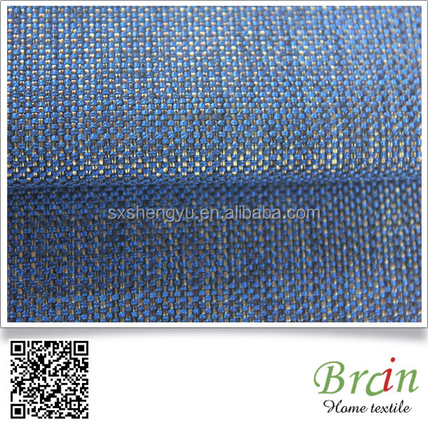 100% Polyester Plain Yarn Dyed Linen Look Fabric Used For Sofa