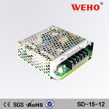 15w constant voltage dc/dc output power supply 12v 1.25a