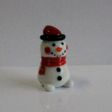 cute lovely christmas colorful glass snowman with scarf and hat