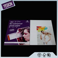 direct sell 270g A4 RC woven photo paper for family albums