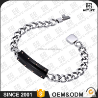 Sale Well 2016 Top Fashion Designs Custom Charm Endless Sport 316L Stainless Steel Bracelet Hand Chain For Men