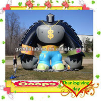 giant inflatable ape monkey character model for Happy Turkey Day