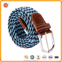 2016 promotional braided elastic woven belt men belts for sale