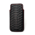 Luxury Python Leather Cell Phone Pouch for iphone 7/7 plus , Customize pouch / sleeve case for iphone