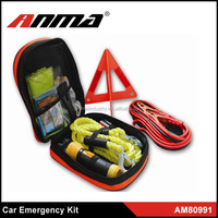 car traffic safety emergency tool kit for roadside/automotive safety tool kit