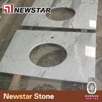 Newstar discount top 24 inch white marble countertops bathroom
