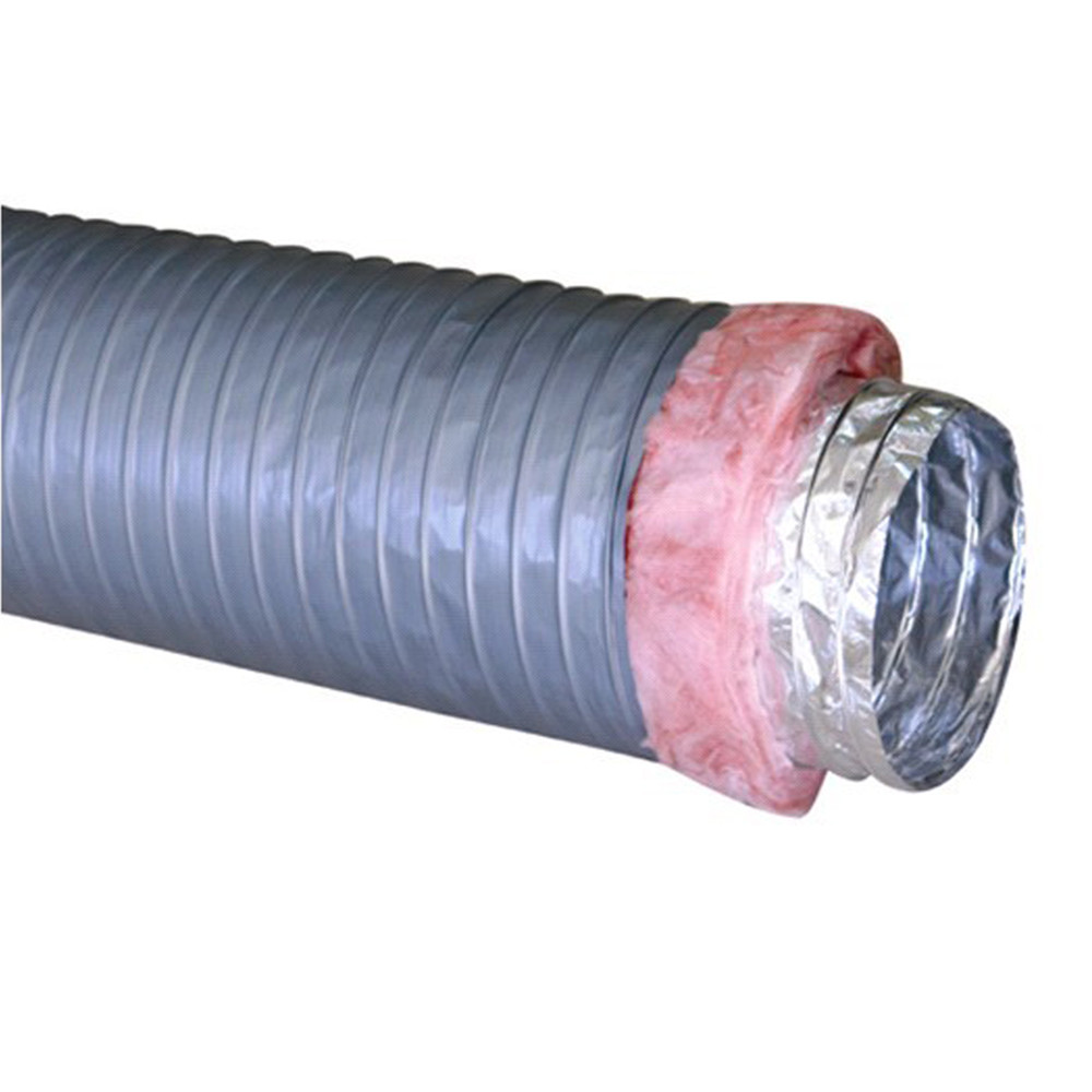 Heavy duty hvac flex duct 12 inch insulated flexible ducting for AC