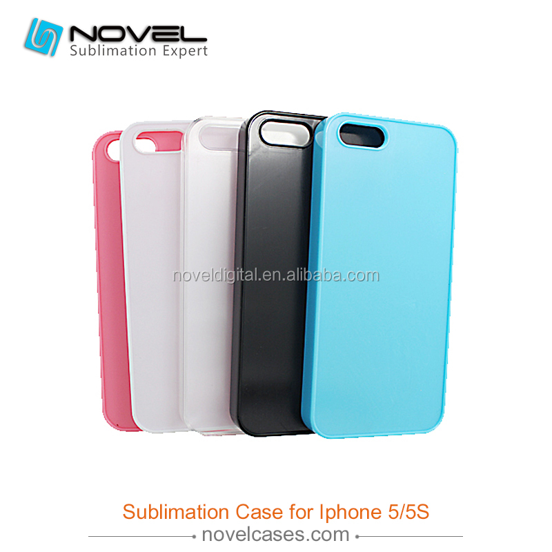 New Style Sublimation Plastic Phone Case for iPhone5/5S/SE, 2D Sublimation Blanks