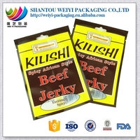 custom stand up South Africa food grade resealable dried biltong beef jerky food snack packaging bag