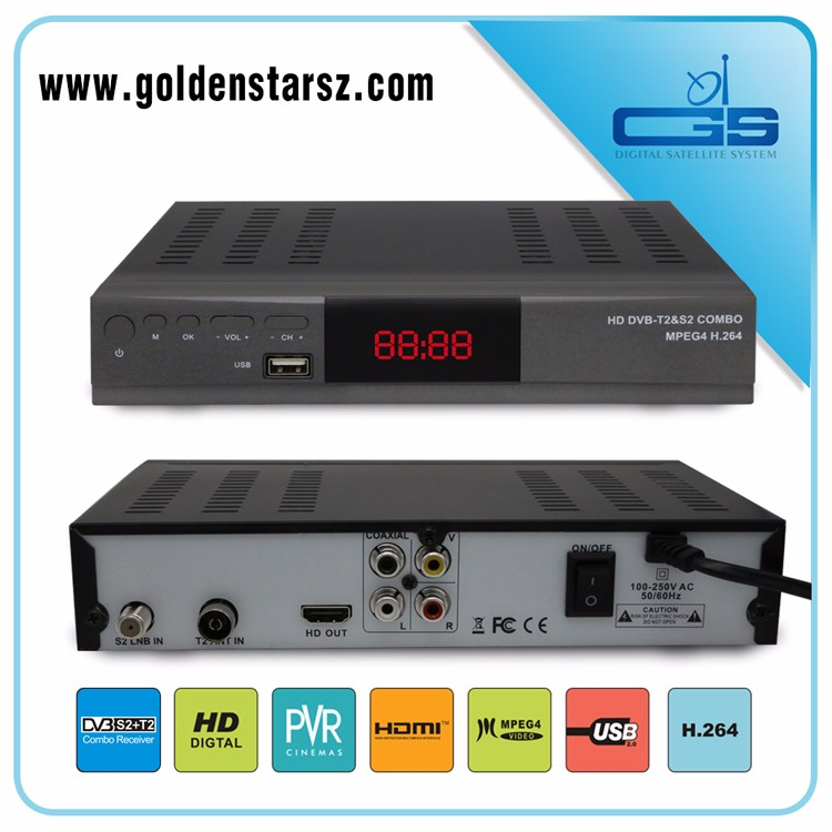 Best price hd combo dvb-s2 dvb-t2 satellite receiver dvb-s2 dvb-t2 direct tv set top box