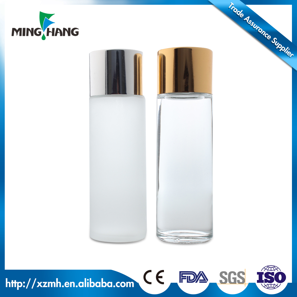 120ml Glass spray bottle cosmetic use body lotion pump bottles