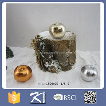 2016 Christmas outdoor magnesia silver apple decoration for sale