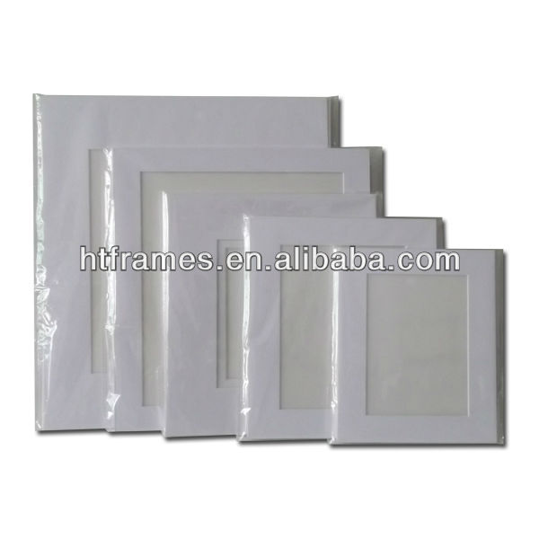 acid free white pre-cut mat board and foam board 4x6 5x7 8x10 11x14
