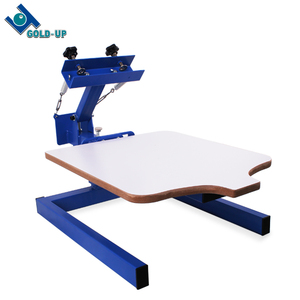 gold up supply cheap screen printing press machine with flash