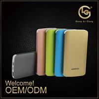 High quality pocket size mobile portable charger power bank 6000mah