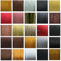 2*0.75 /3*0.75 vintage style textile fabric cord retro light cable braided flex cord twisted fabric electrical wire