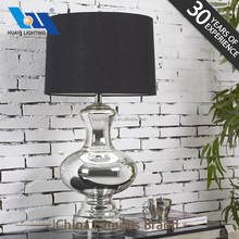 Modern design decorative home lighting Pure silver crystal glass table lamps