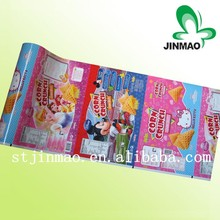 2017 hot sale printed food packaging plastic roll film