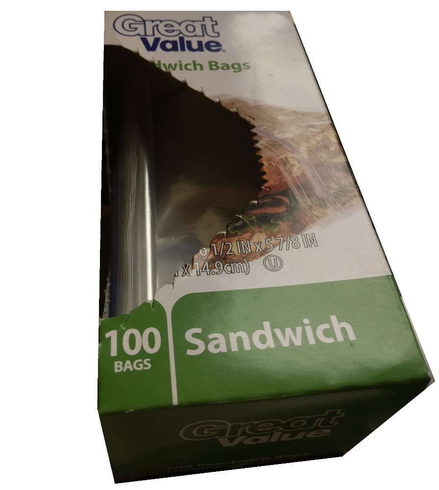 Walmart zipper seal sandwich bags, keep it fresher