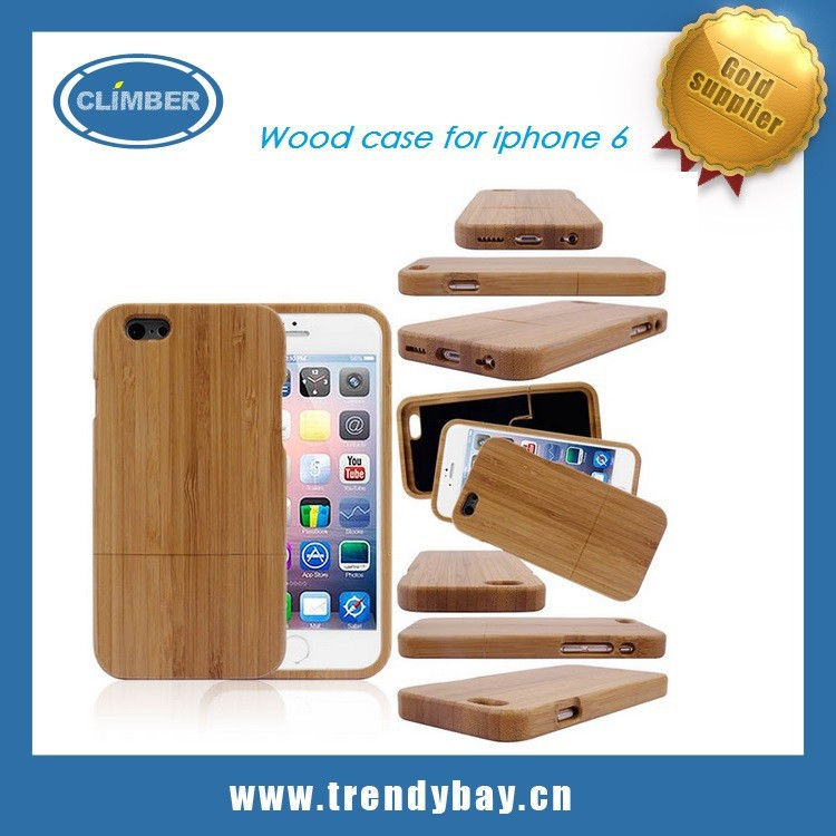 OEM Natural cherry bamboo Sapele wood case for iphone 6s for iphone wood case