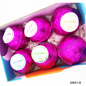 OEM/ODM Private Label Fizzy natural Gift Set Organic Spa bath bombs set of 6