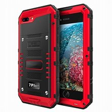 Water Dirt Shock Proof Aluminum Waterproof Swimming Dive Case IP68 Phone Accessories for Iphone5 6 6plus 7 7plus
