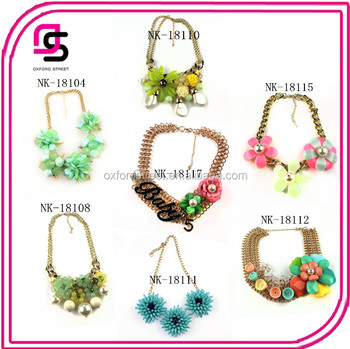 2016 Wholesale Candy Flower Necklace Jewelry Handmade In Yiwu