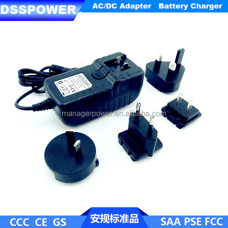 29.4V1A convertible plug AC/DC power adapter for electric skateboard