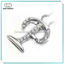 High Quality fashion letter p pendant jewelry