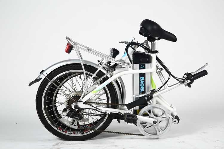 "26"" mini electric folding bike adult tricycle bicycle"