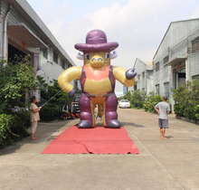 Hot selling Giant inflatable cowboy for advertising