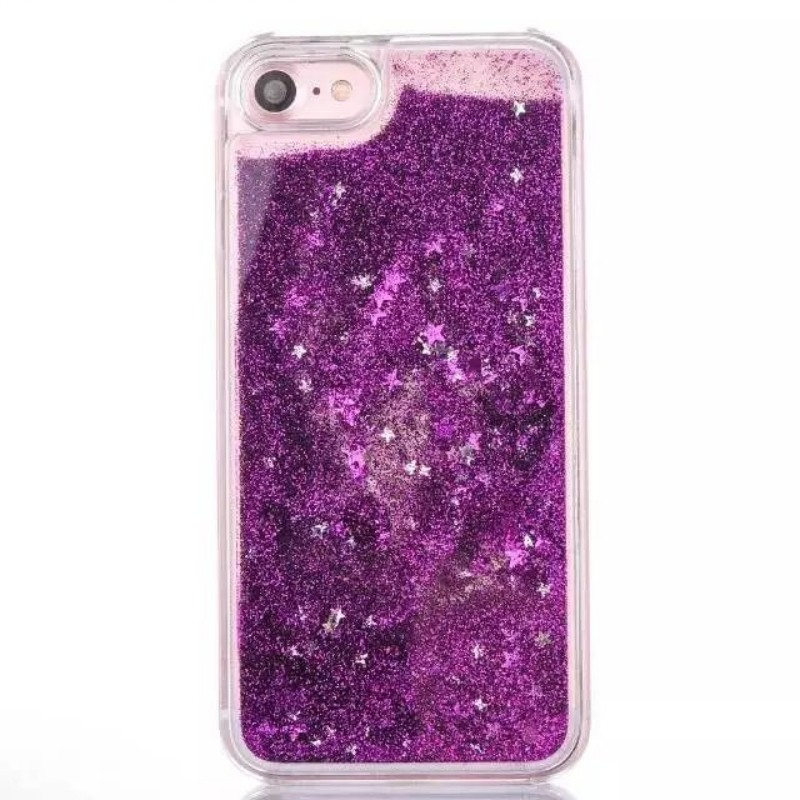 Plastic Case Clear Protective for iPhone case Glitter Liquid inside Hard Case for iPhone 7 for 7 plus Colorful Quicksand
