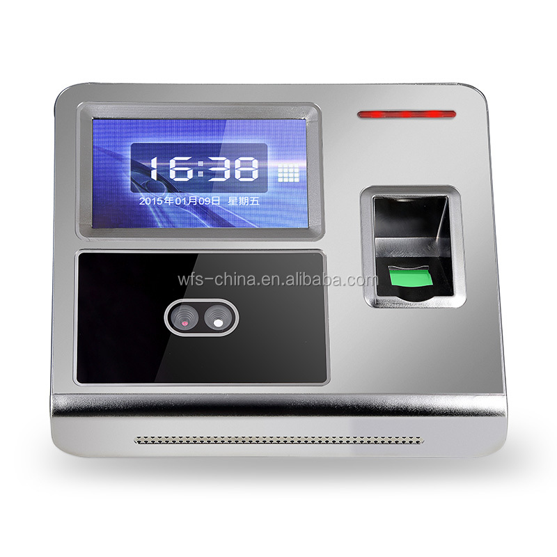 Employee time clock calculator with facial fingerprint password recognition F7