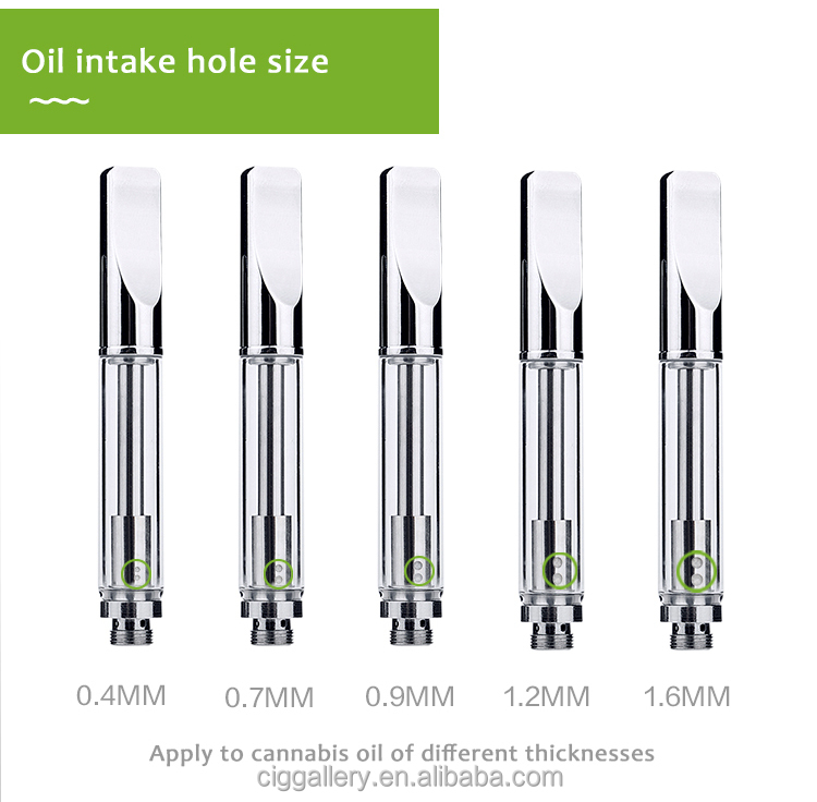 Patented glass dental cbd A3 0.3 0.5 1.0ml 510 thc oil vape pens cbd oil cartridge no leak gold cartridge